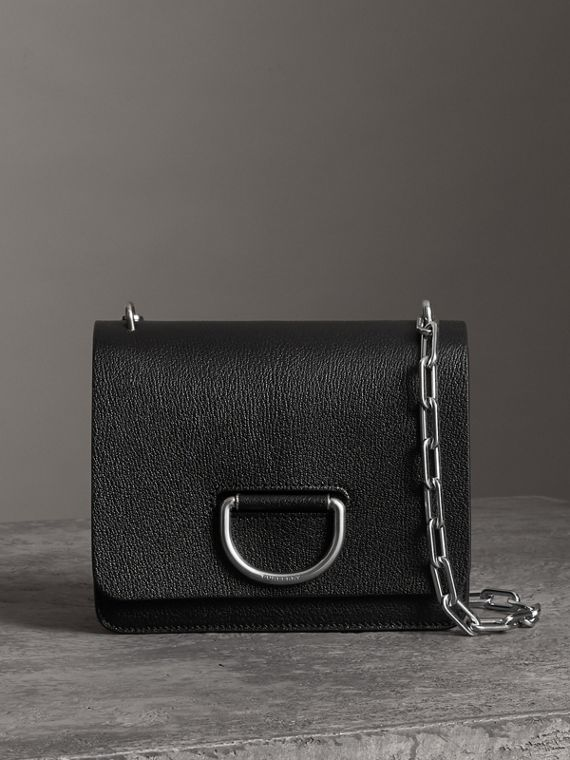 Borsa The D-ring piccola in pelle (Nero)