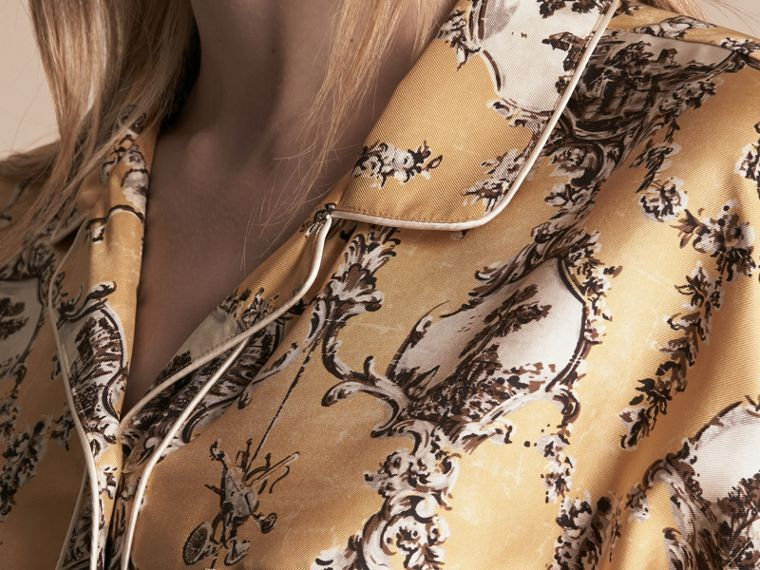 Wallpaper Print Silk Twill Pyjama-style Shirt - cell image 4