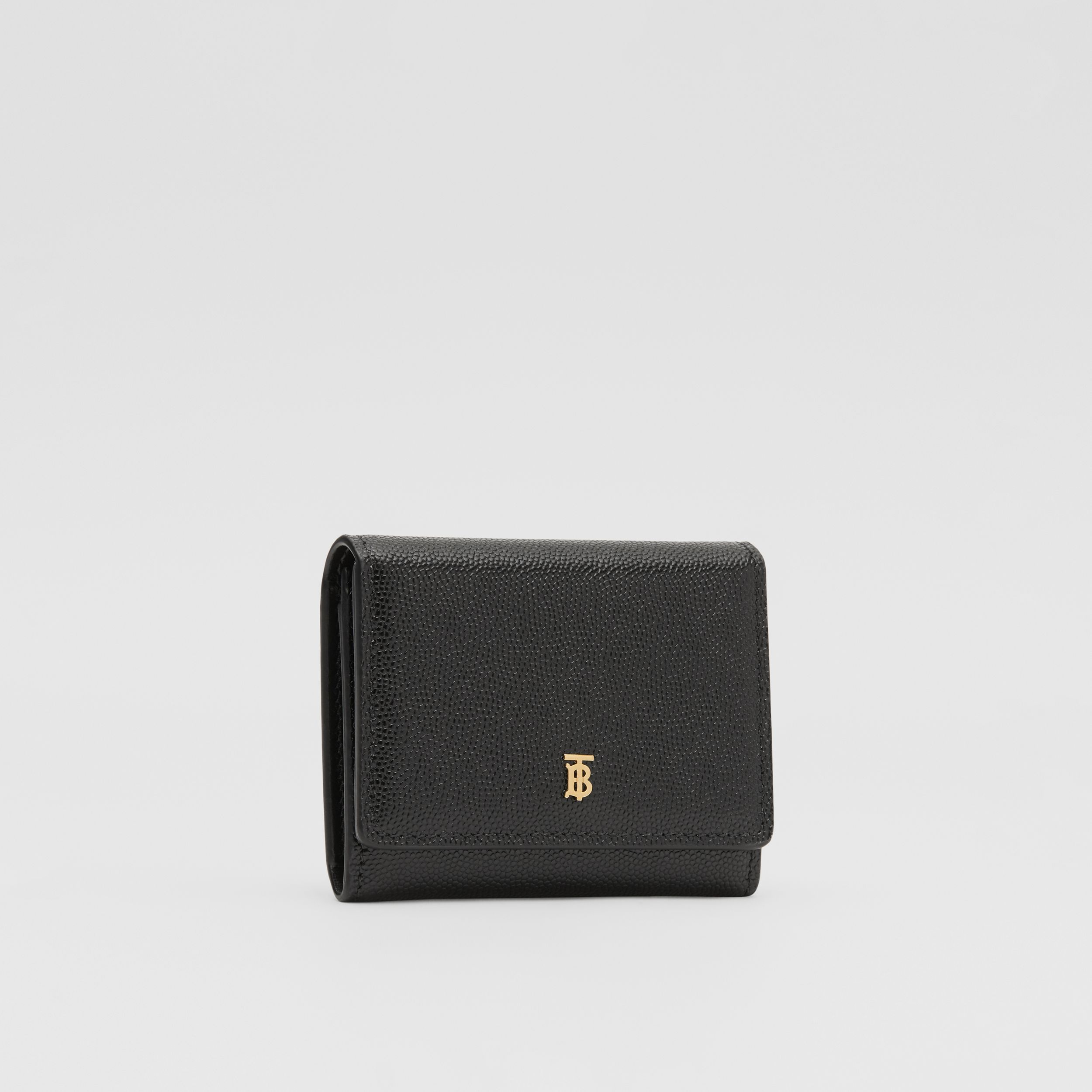 Grainy Leather ID Card Case in Black - Women | Burberry - 4