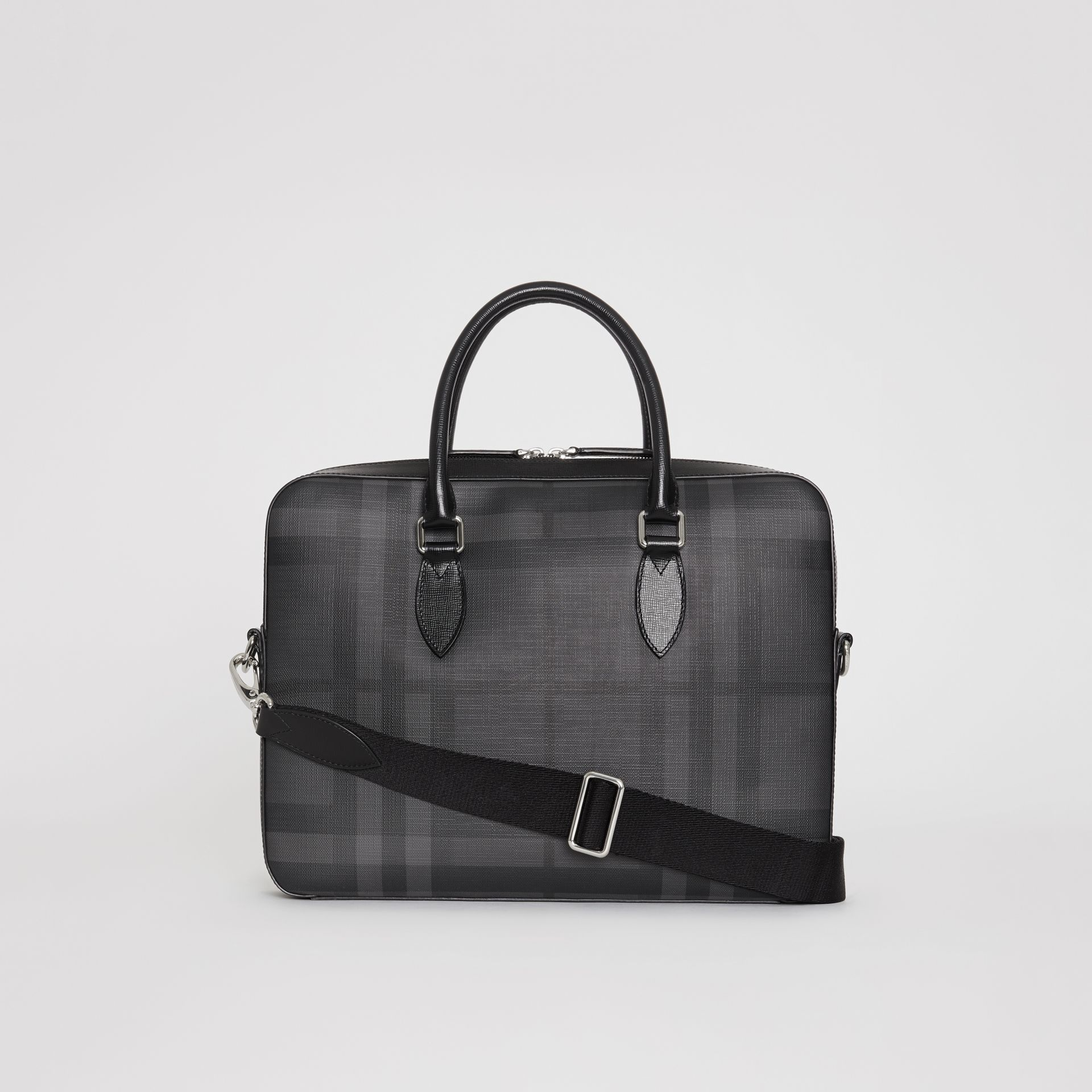 Sac The Barrow fin avec motif London check (Anthracite/noir) - Homme | Burberry Canada - photo de la galerie 7