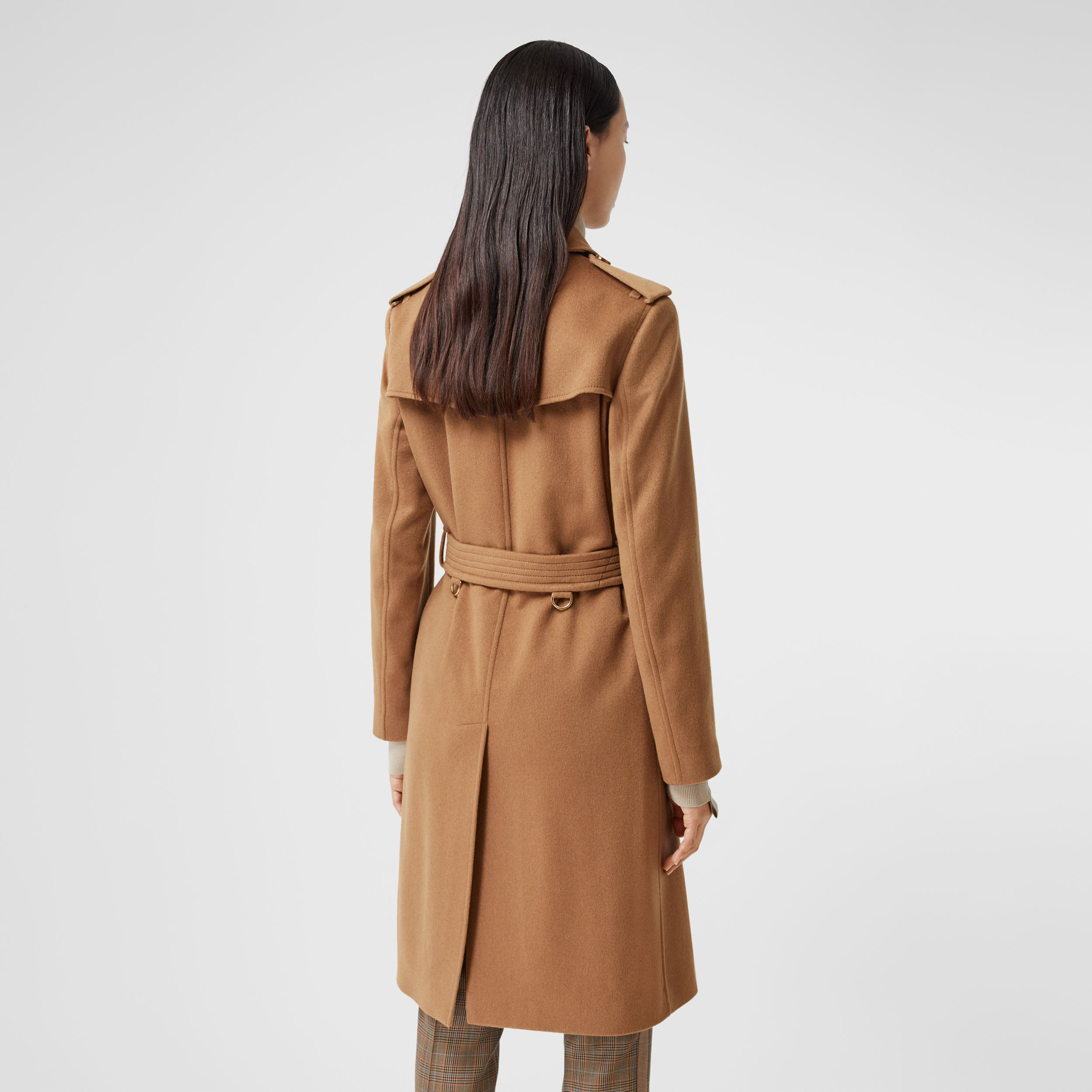 Cashmere Trench Coat in Bronze - Women | Burberry - 3