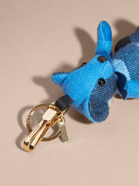 Thomas Bear Charm in Check Cashmere Bright Cornflower Blue - cell image 3