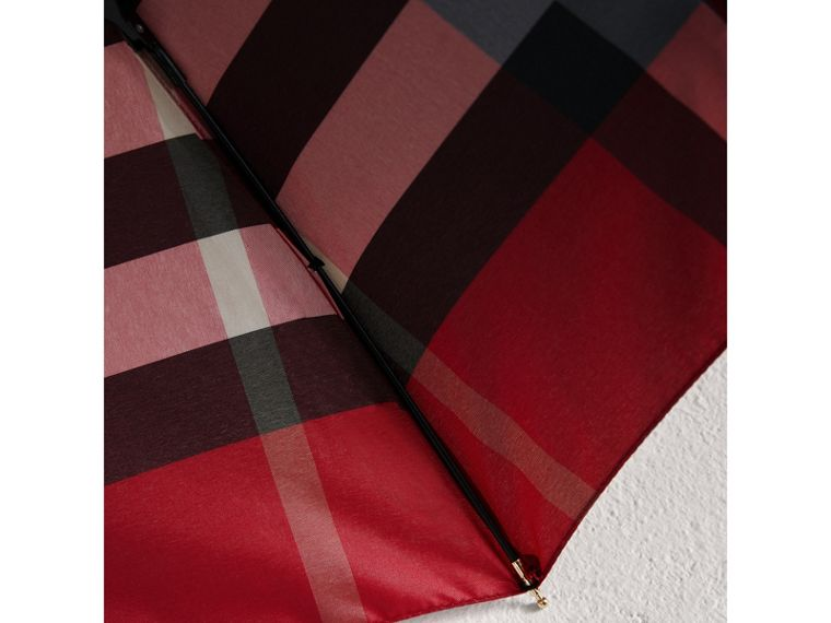 Check Folding Umbrella in Parade Red | Burberry - cell image 2