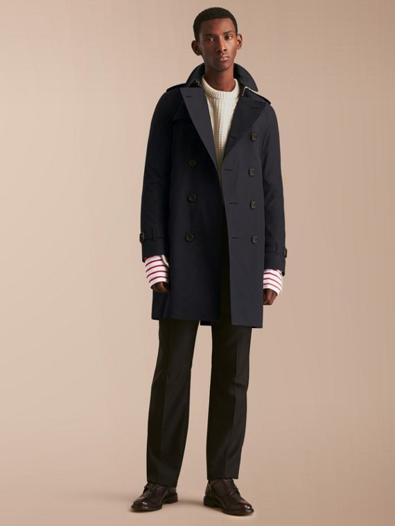 The Kensington - Trench coat Heritage longo Azul Marinho