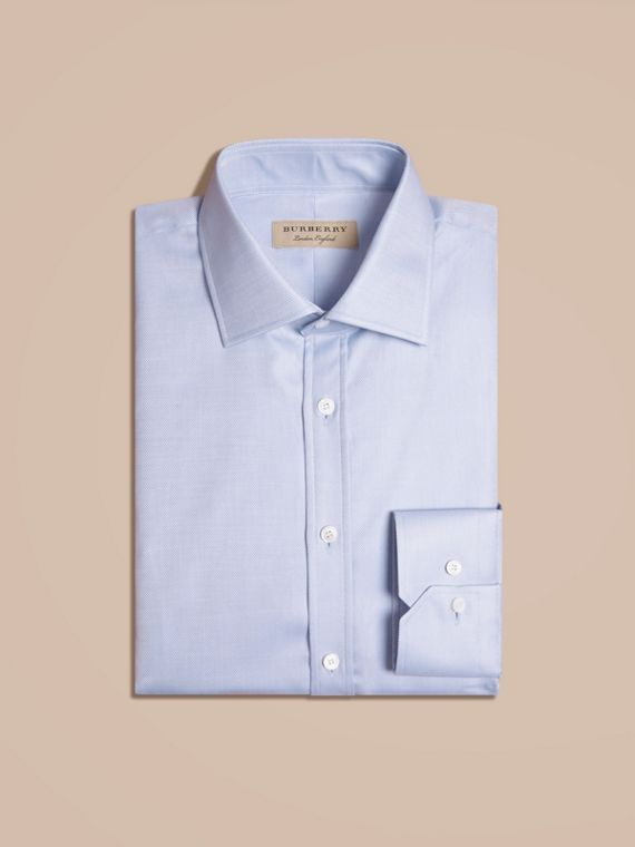 City blue Modern Fit Cotton Twill Shirt City Blue - cell image 3