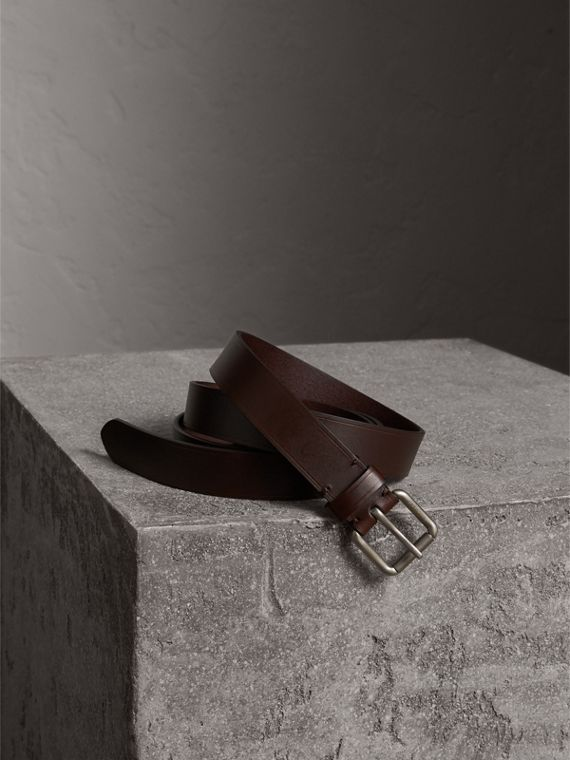 Smooth Leather Belt in Bitter Chocolate