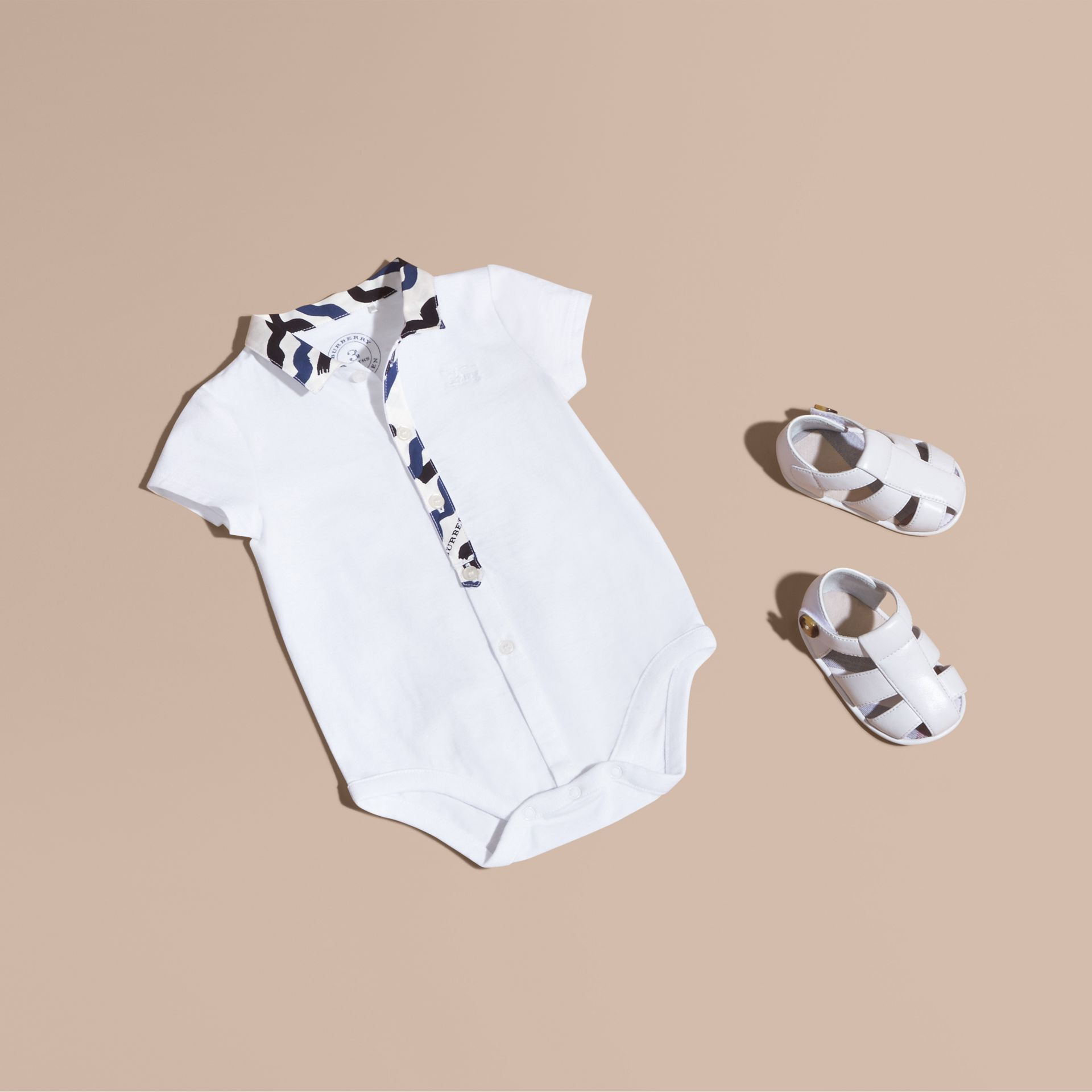 Wave Print Cotton Three-piece Baby Gift Set - gallery image 1