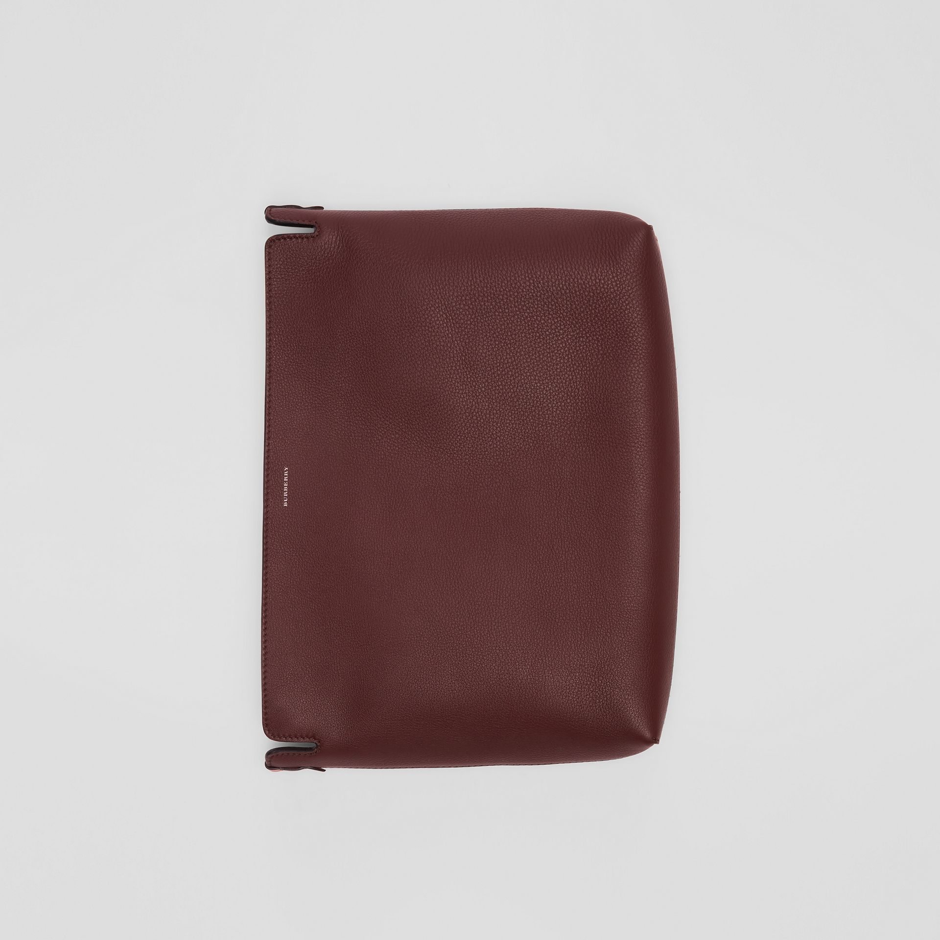 Large Tri-tone Leather Clutch in Deep Claret/dusty Rose - Women | Burberry United States - gallery image 2
