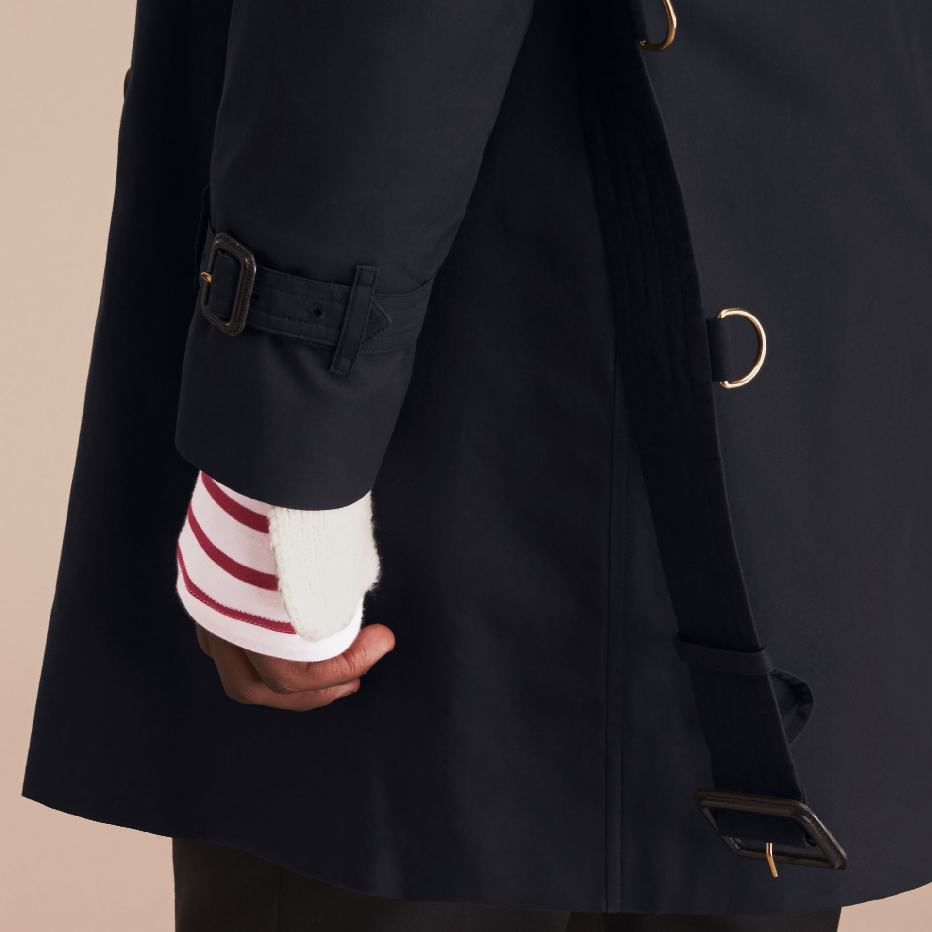 Navy The Kensington – Long Heritage Trench Coat Navy - gallery image 6