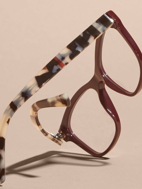 Check Detail Square Optical Frames Oxblood - cell image 3