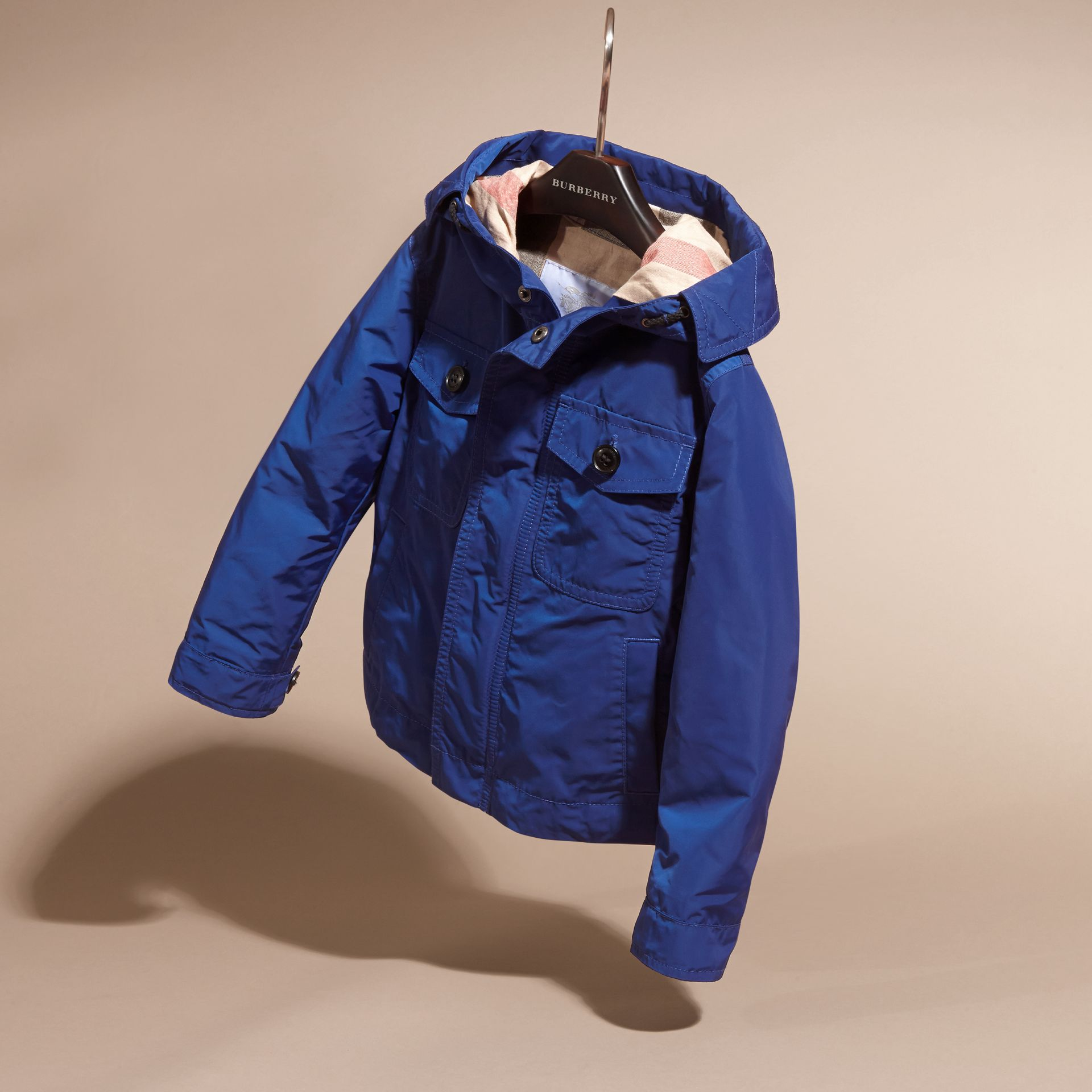 Bright lapis Hooded Packaway Technical Jacket Bright Lapis - gallery image 3