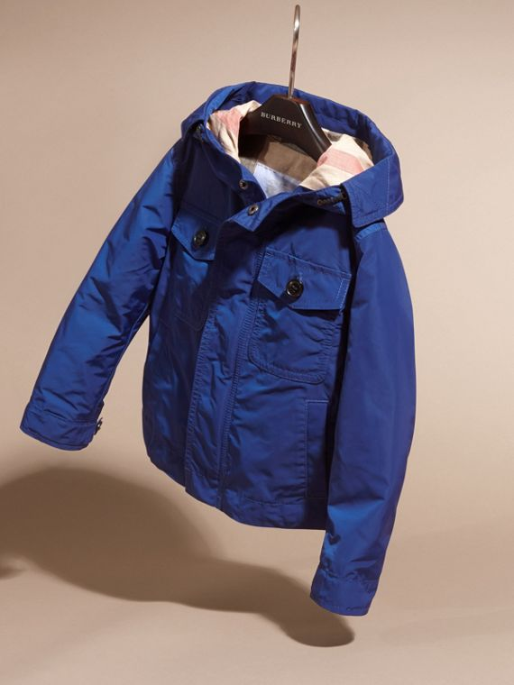 Bright lapis Hooded Packaway Technical Jacket - cell image 2