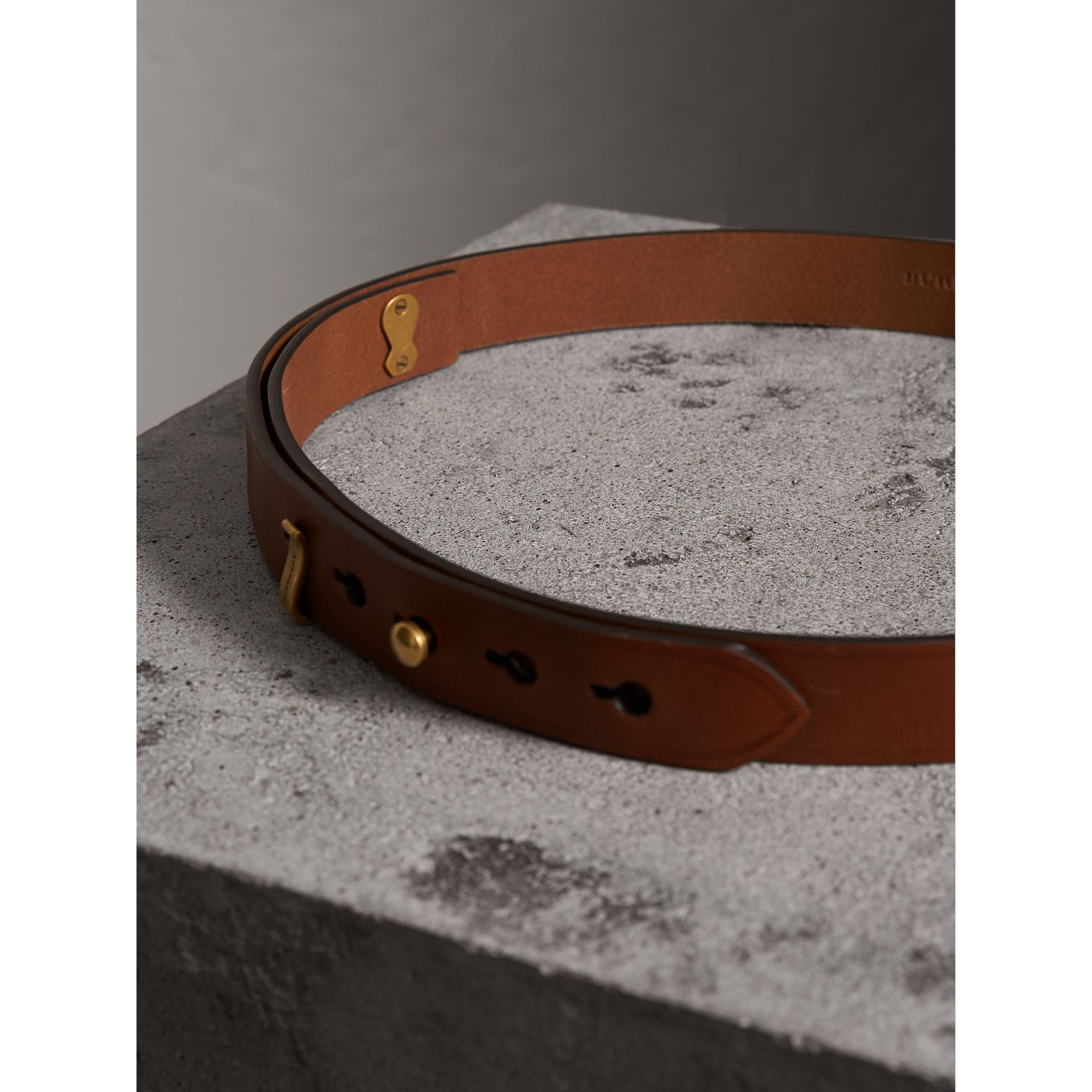Bridle Leather Belt in Tan - Women | Burberry - gallery image 3