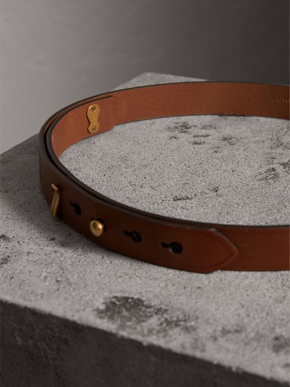 Bridle Leather Belt in Tan - Women | Burberry Singapore - cell image 3