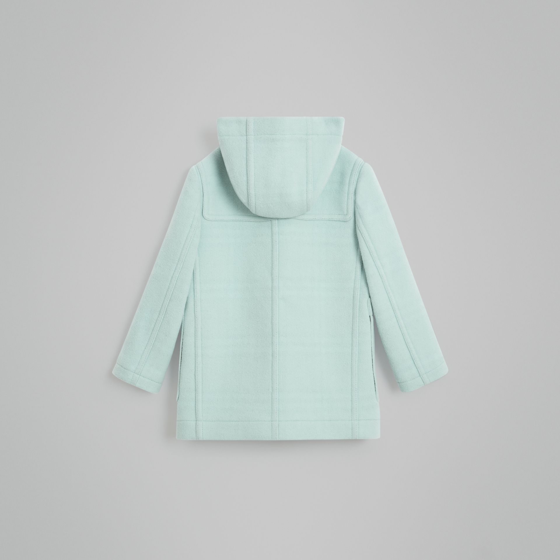 Double-faced Wool Duffle Coat in Pale Mint | Burberry - gallery image 3