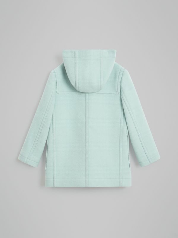 Double-faced Wool Duffle Coat in Pale Mint | Burberry Australia - cell image 3