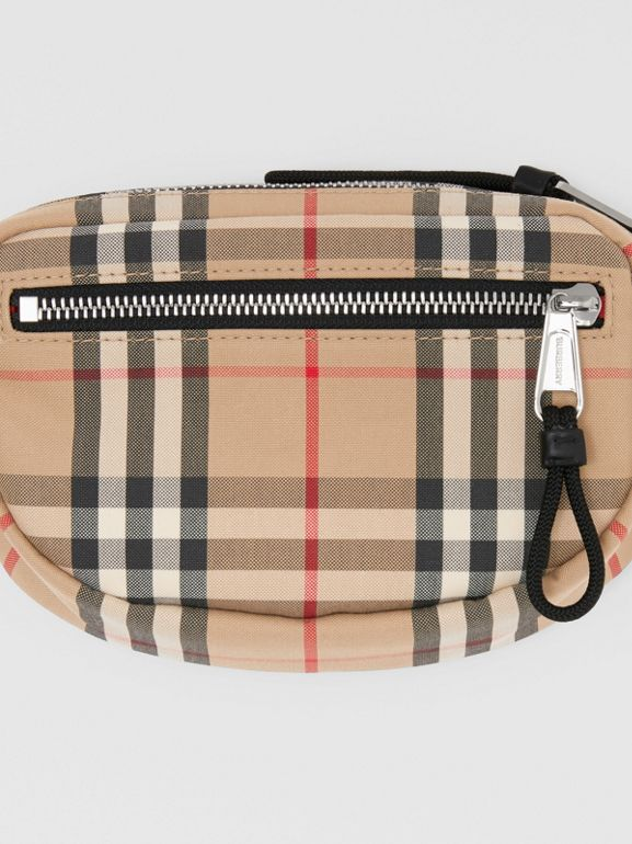 Small Vintage Check Bum Bag in Archive Beige | Burberry - cell image 1