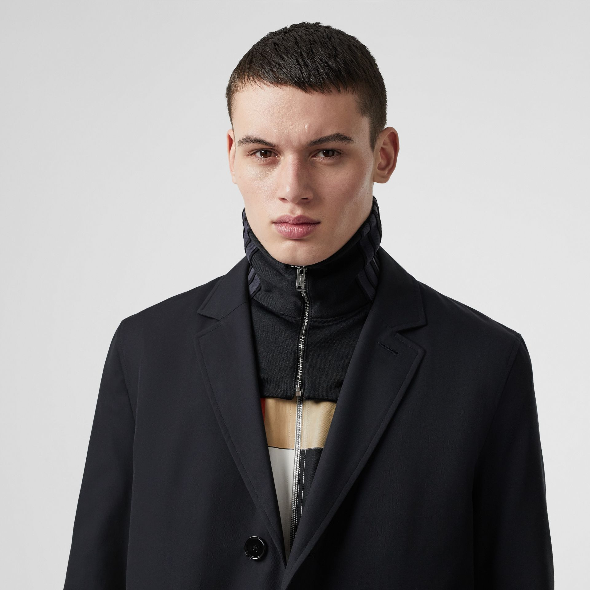 Cotton Gabardine Car Coat in Midnight Navy - Men | Burberry - gallery image 1
