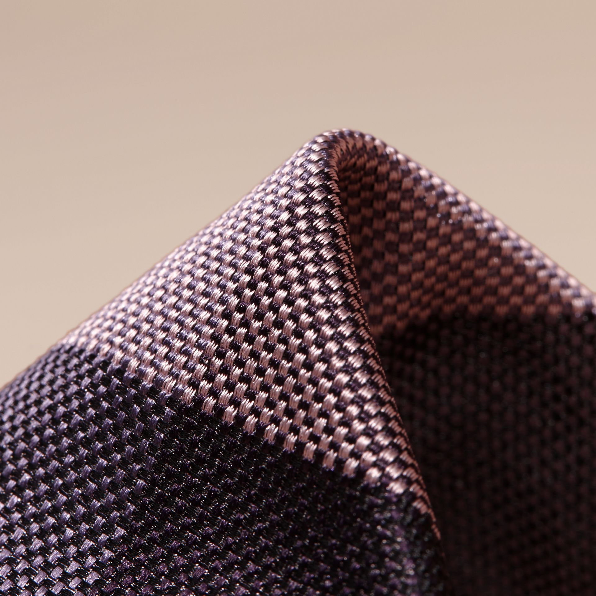 Heather Modern Cut Check Jacquard Silk Tie - gallery image 2