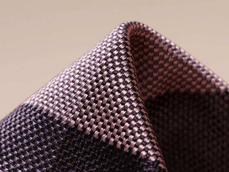 Heather Modern Cut Check Jacquard Silk Tie - cell image 1