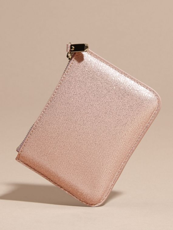 Glitter Leather Pouch in Pale Orchid - cell image 3