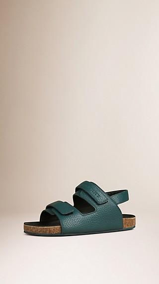 Grainy Leather Sandals