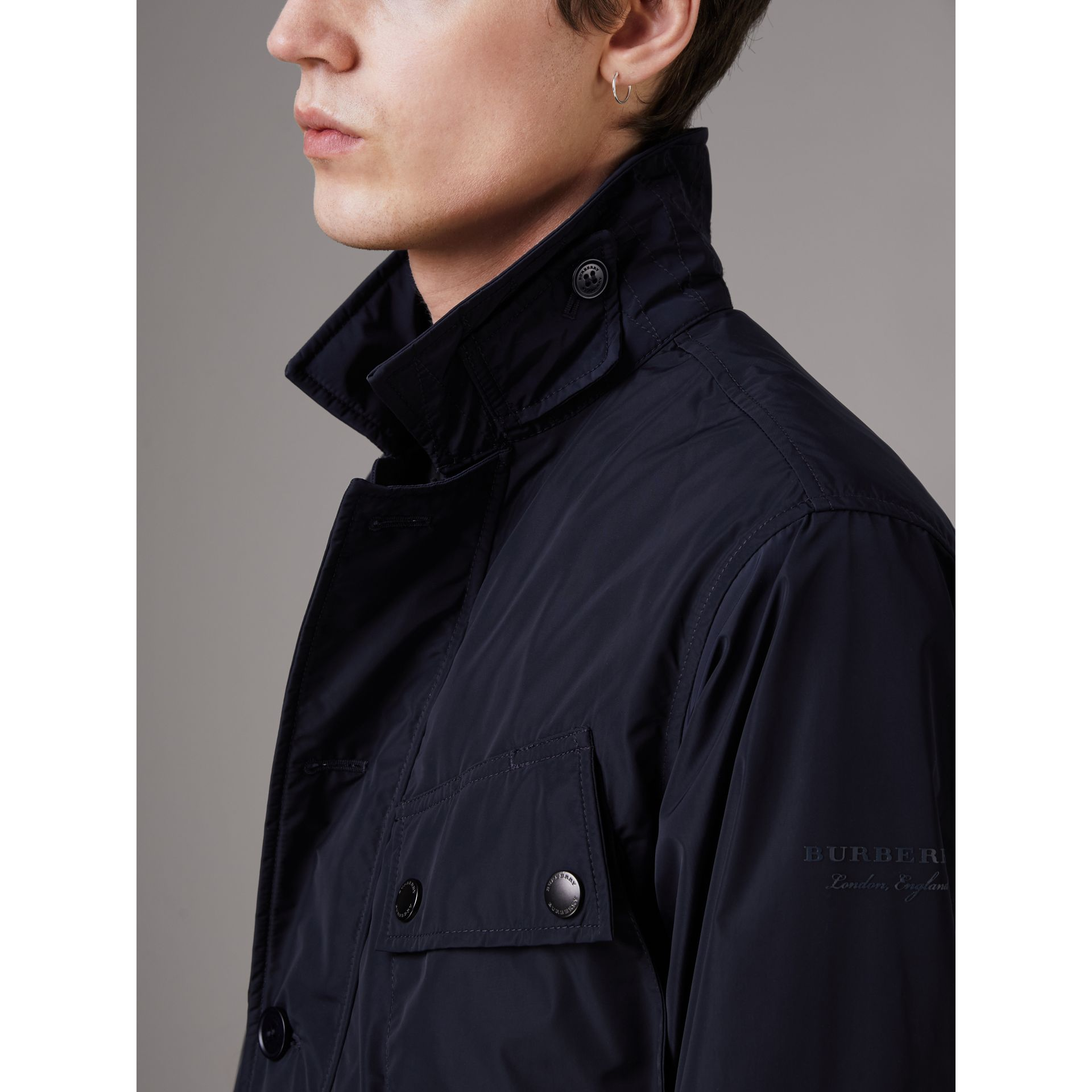 Shape-memory Taffeta Field Jacket with Warmer in Navy - Men | Burberry - gallery image 5