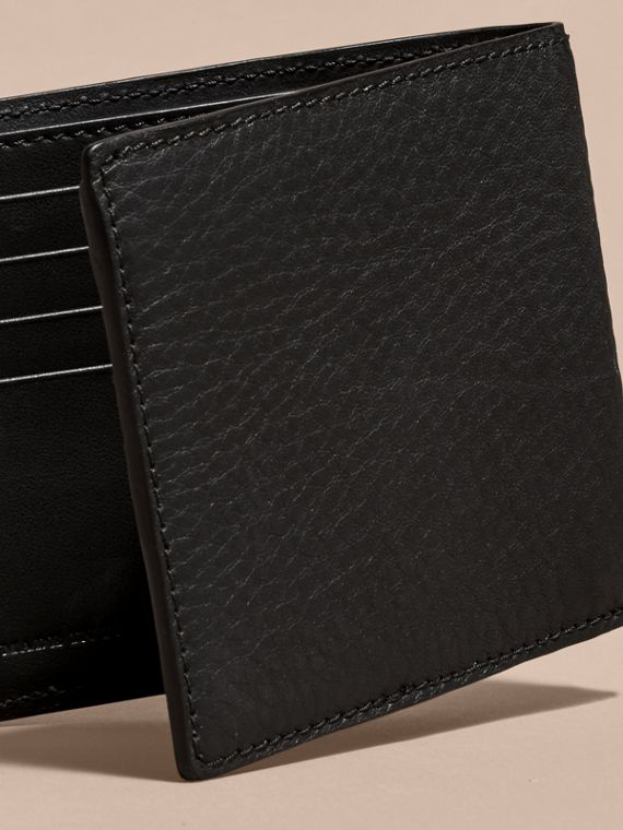 Studded Leather and Check International Bifold Wallet - cell image 3