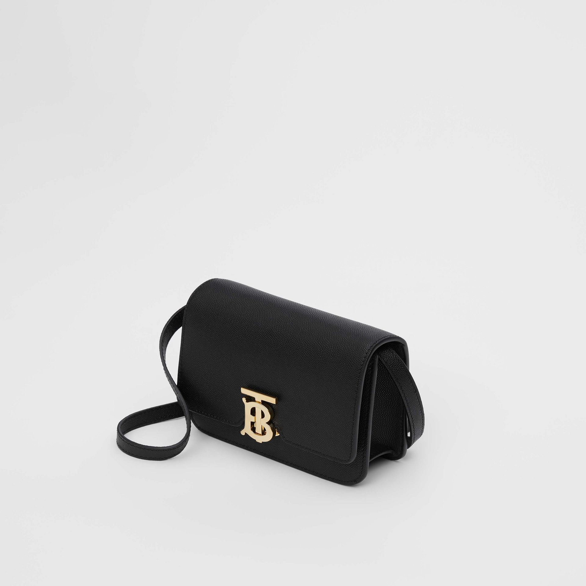 Mini Grainy Leather TB Bag in Black - Women | Burberry - gallery image 3