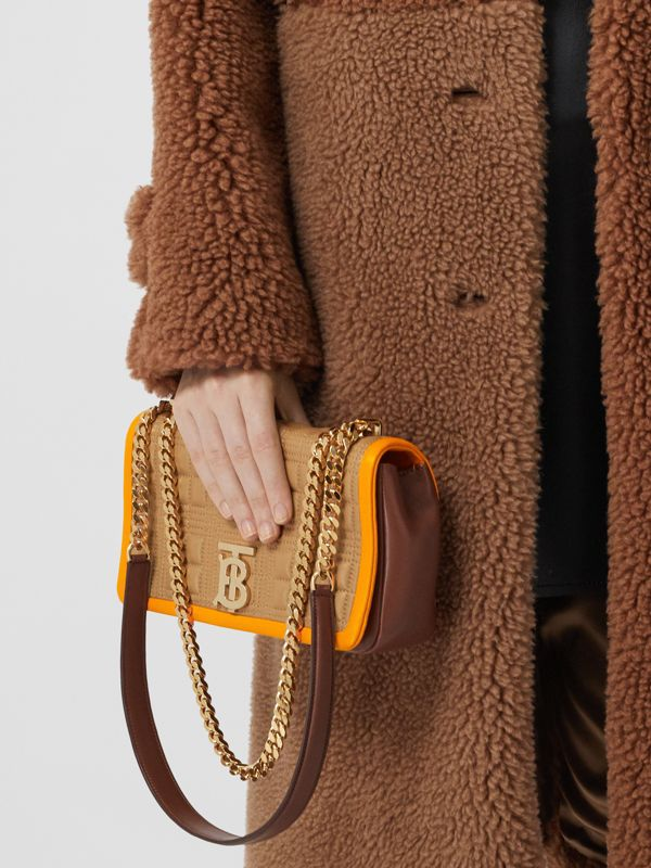 Small Quilted Tri-tone Lambskin Lola Bag in Camel/bright Orange - Women | Burberry - cell image 2