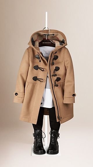 Duffle-coat en laine à jupe