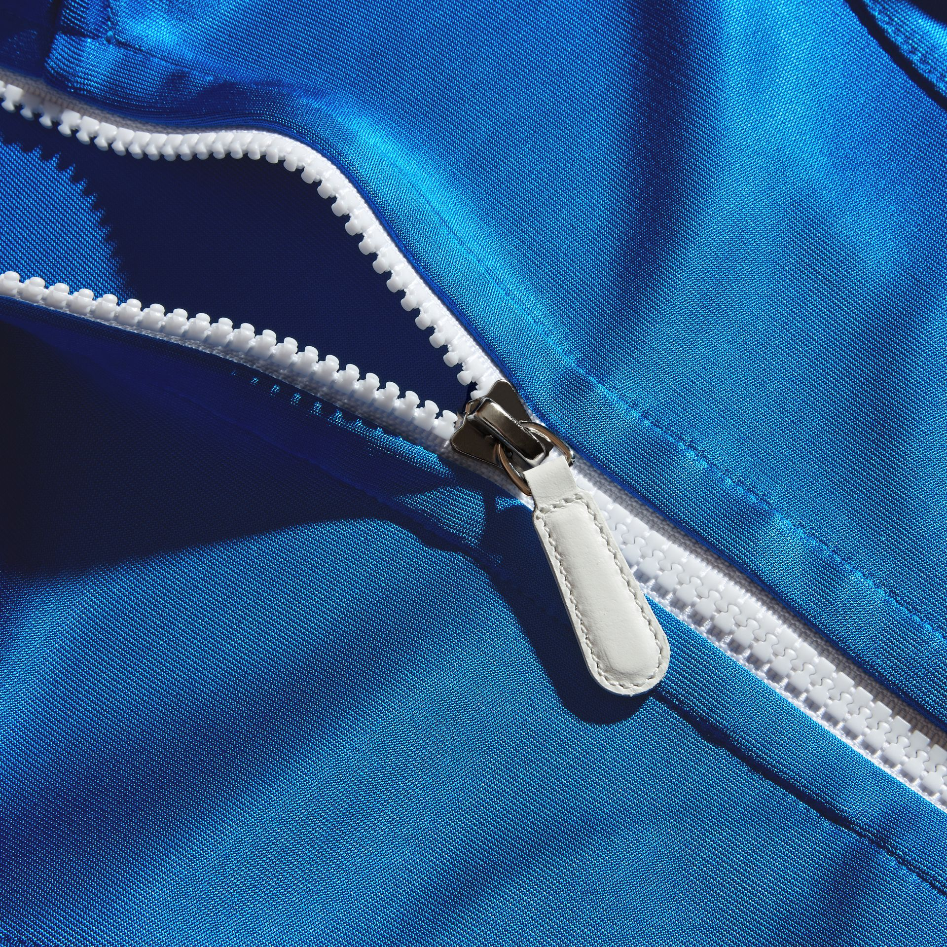 High-shine Technical Track Jacket in Atlantic Blue - gallery image 2