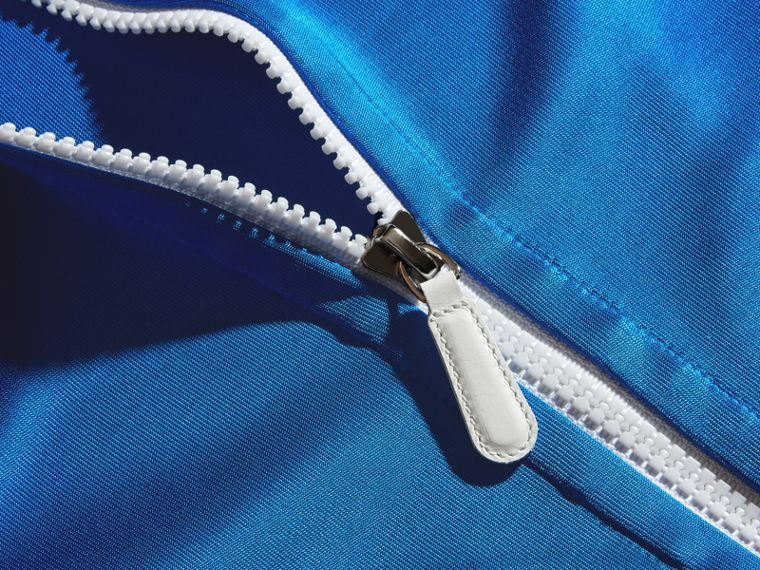 High-shine Technical Track Jacket Atlantic Blue - cell image 1