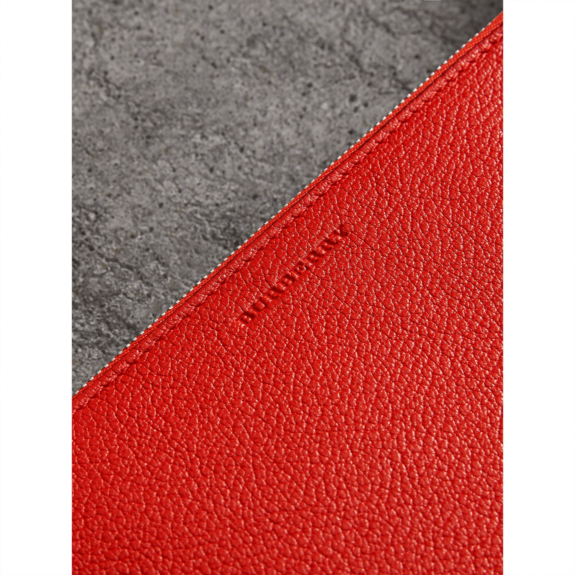 Triple Zip Grainy Leather Crossbody Bag in Bright Red - Women | Burberry - gallery image 1