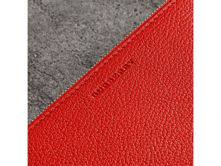 Triple Zip Grainy Leather Crossbody Bag in Bright Red - Women | Burberry - cell image 1