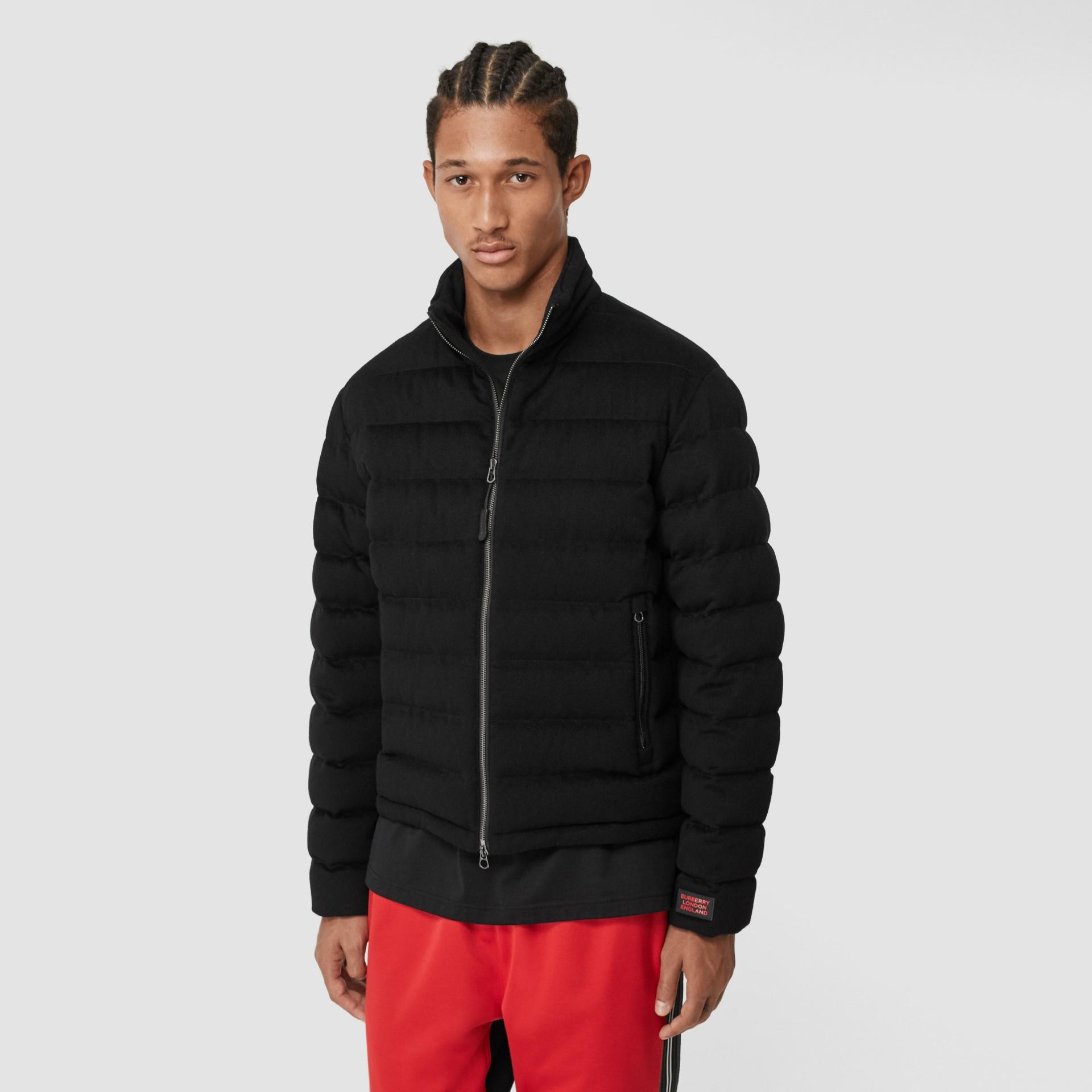 Lightweight Cashmere Puffer Jacket in Black - Men | Burberry United Kingdom - gallery image 5