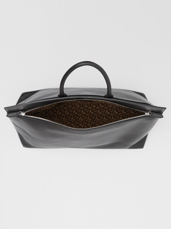 Extra Large Leather Society Top Handle Bag in Black - Men | Burberry Canada - cell image 3