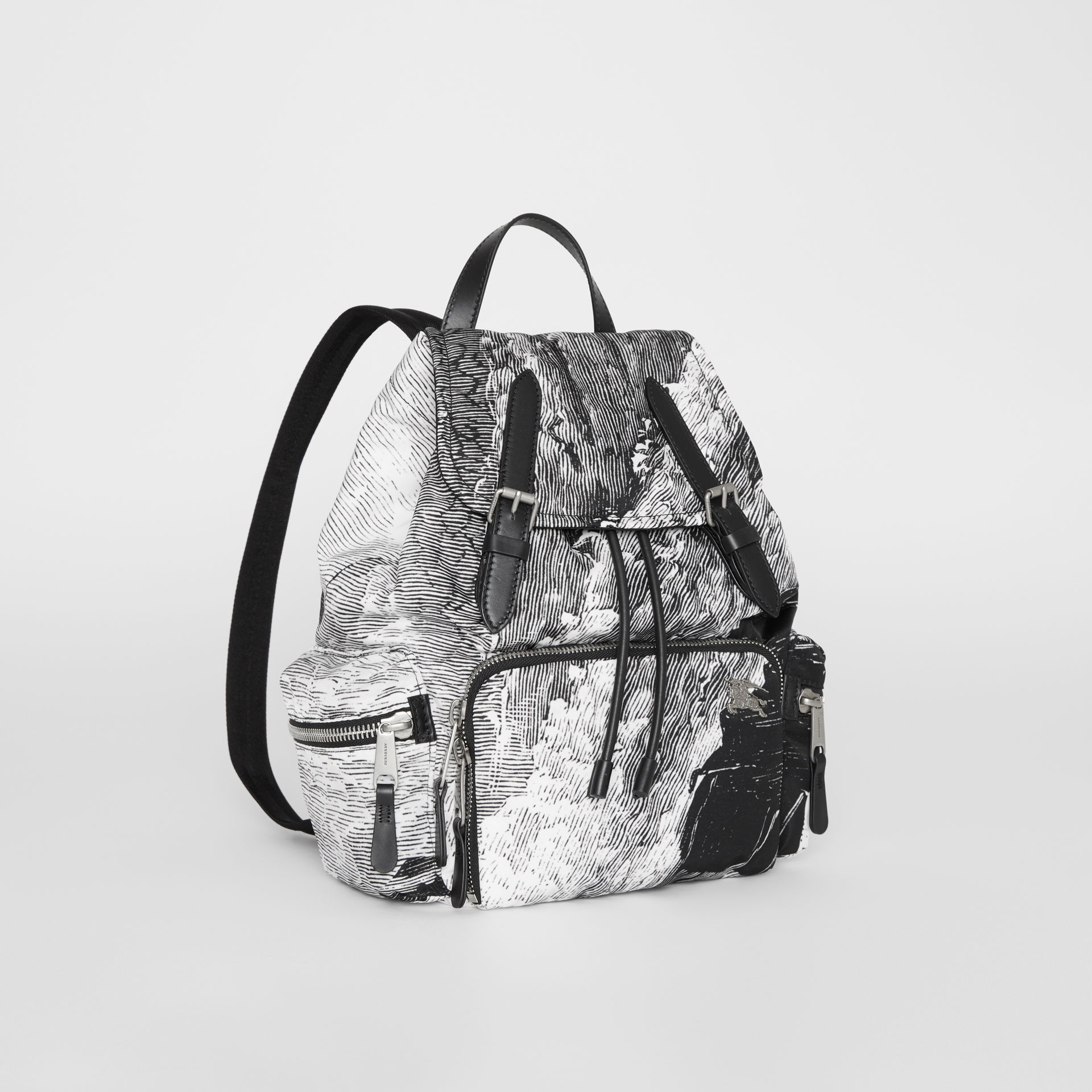 The Medium Rucksack in Dreamscape Print in Black - Women | Burberry United Kingdom - gallery image 6