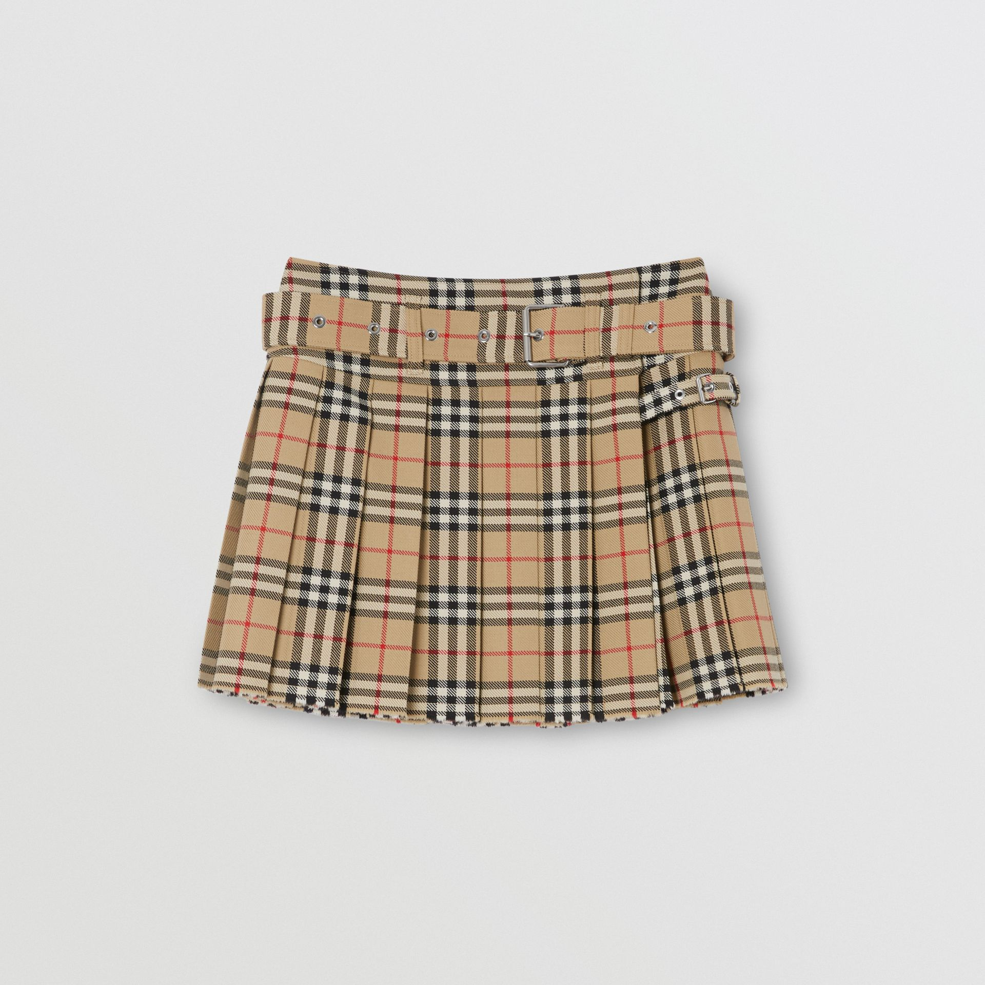 Vintage Check Wool Twill Kilt in Archive Beige - Women | Burberry United Kingdom - gallery image 3