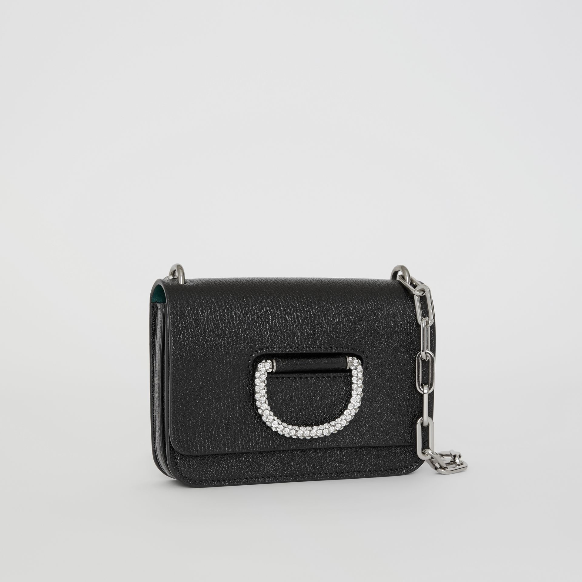 The Mini Leather Crystal D-ring Bag in Black - Women | Burberry Australia - gallery image 5