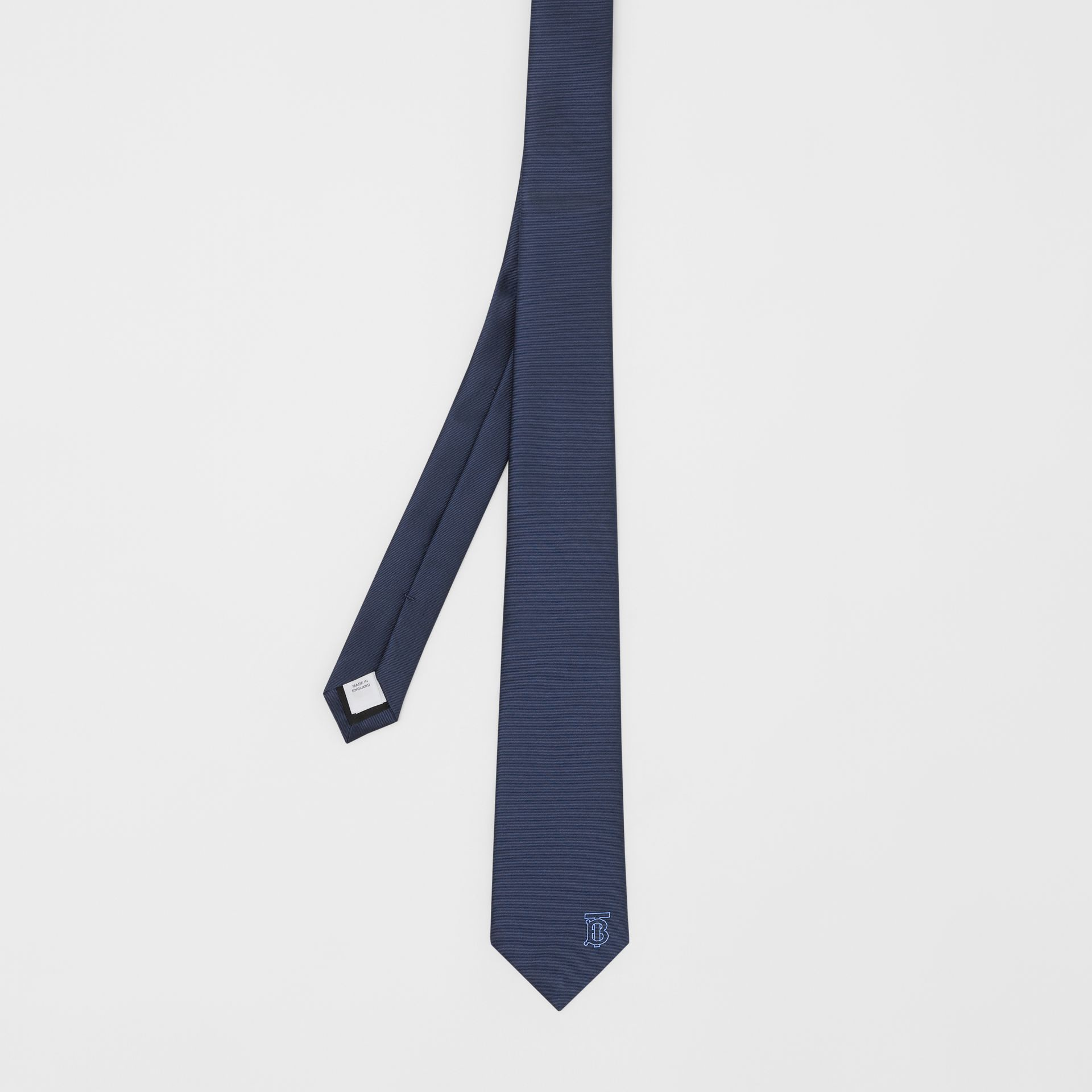 Classic Cut Monogram Motif Silk Tie in Bright Navy - Men | Burberry United Kingdom - gallery image 3