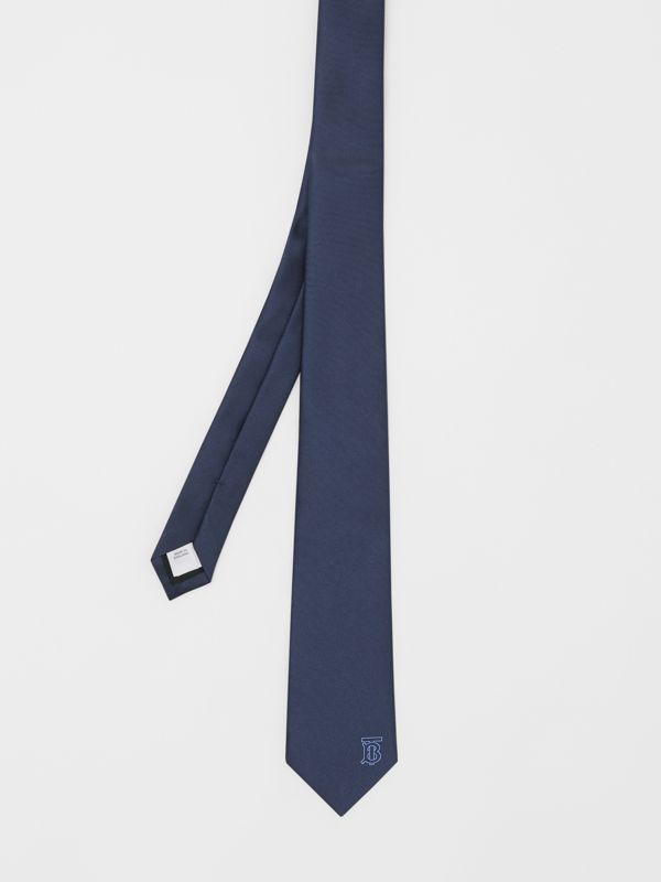 Classic Cut Monogram Motif Silk Tie in Bright Navy - Men | Burberry United Kingdom - cell image 3
