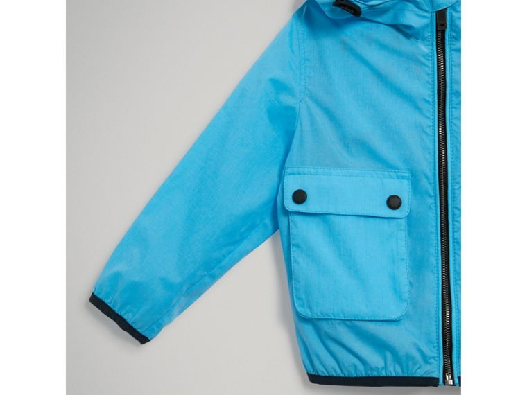 Showerproof Hooded Jacket in Bright Turquoise - Boy | Burberry Canada - cell image 4
