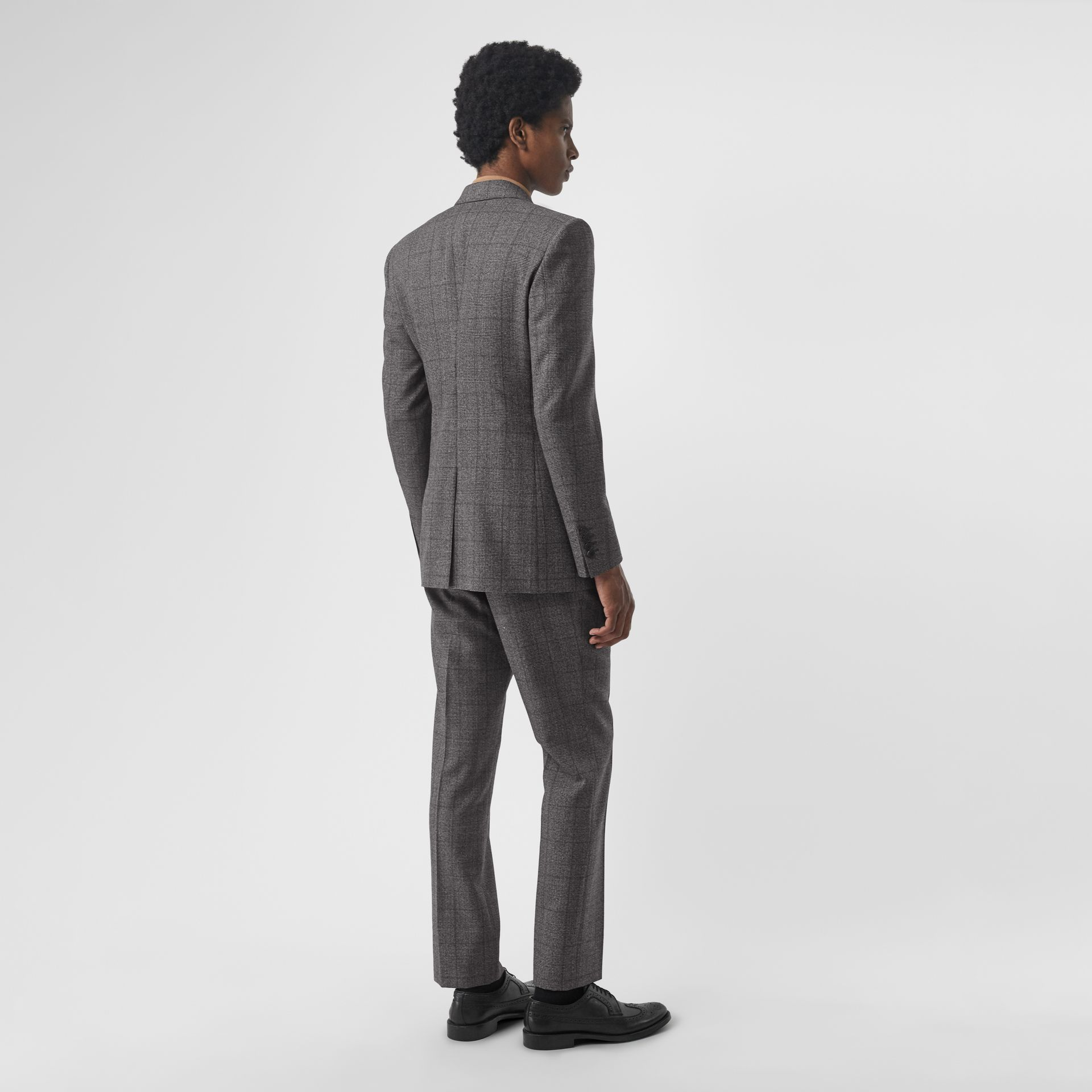 Classic Fit Prince of Wales Check Wool Suit in Charcoal Melange - Men | Burberry Singapore - gallery image 2