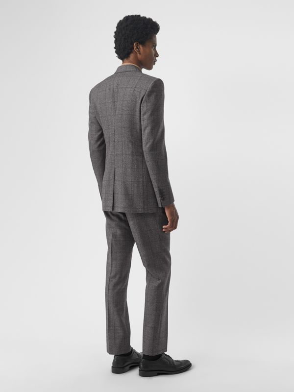 Classic Fit Prince of Wales Check Wool Suit in Charcoal Melange - Men | Burberry - cell image 2