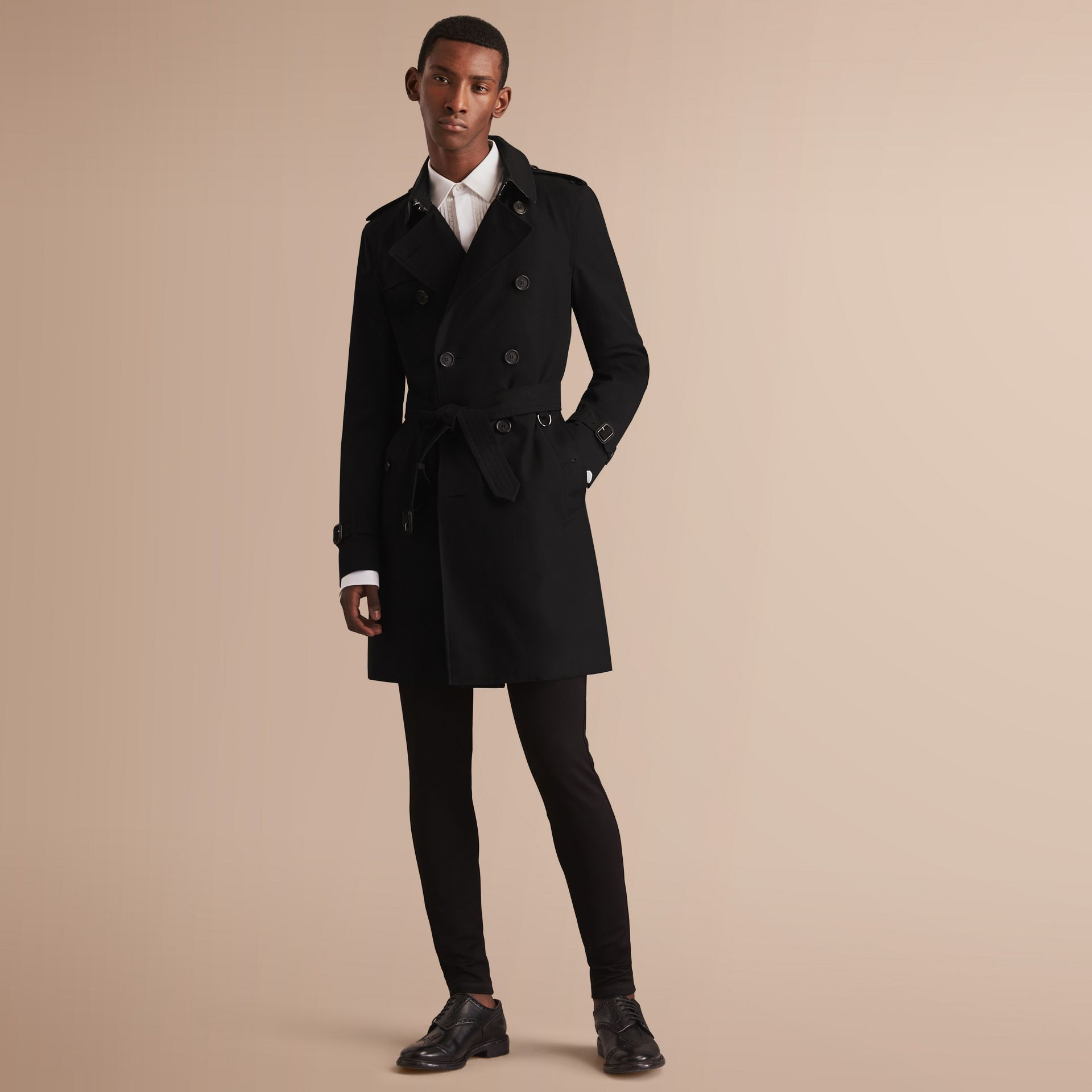 The Sandringham – Long Heritage Trench Coat Black - gallery image 8