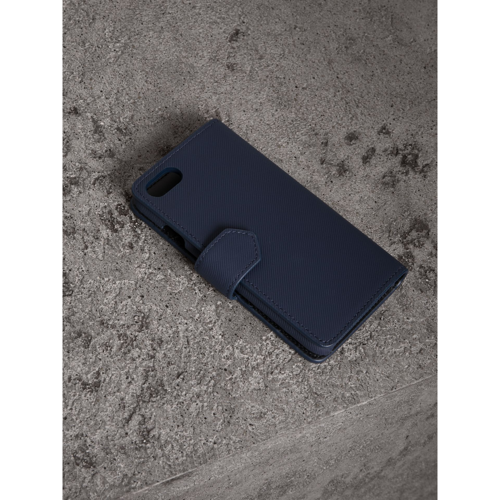 Trench Leather iPhone 7 Case in Ink Blue - Men | Burberry - gallery image 2