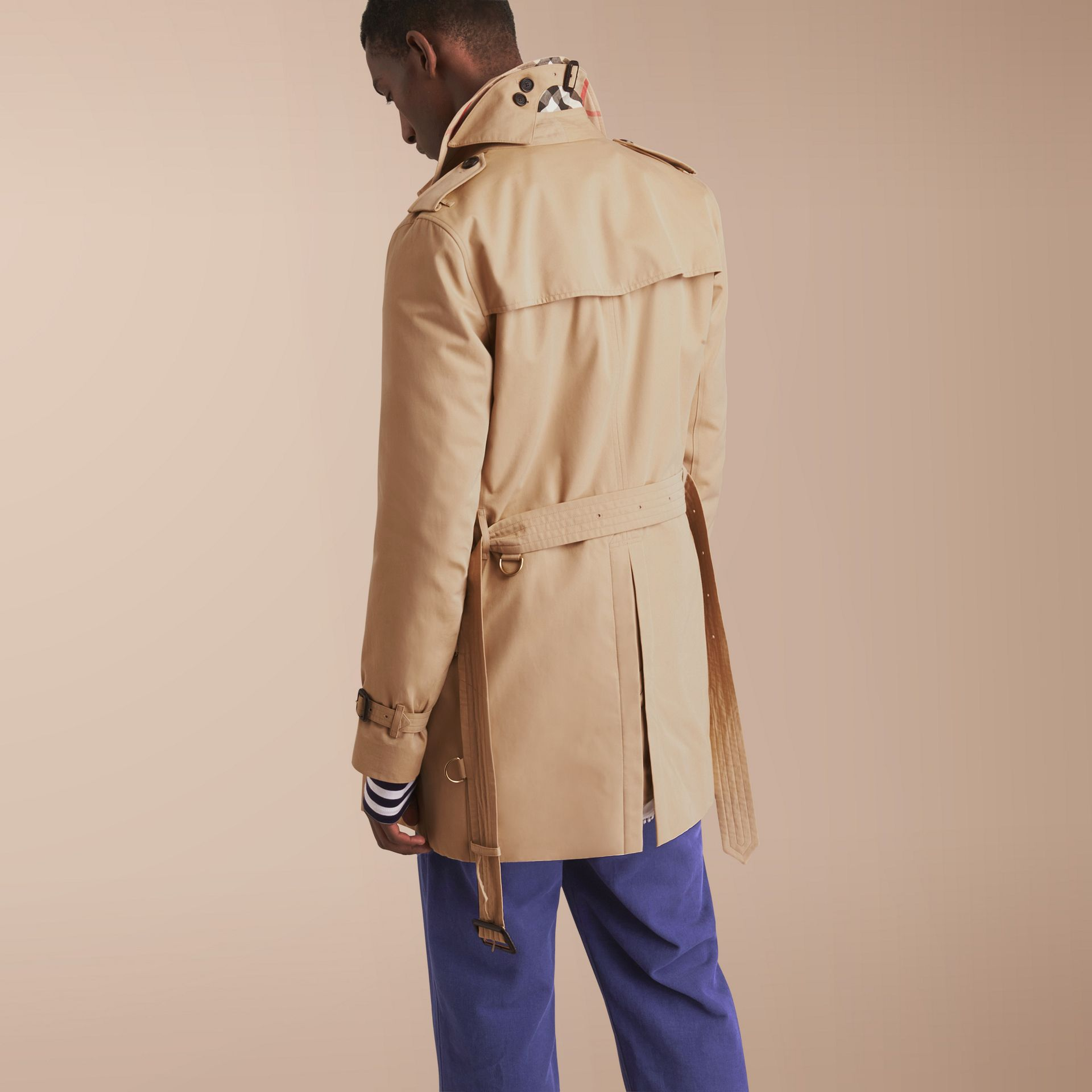The Kensington – Mid-Length Heritage Trench Coat Honey - gallery image 3