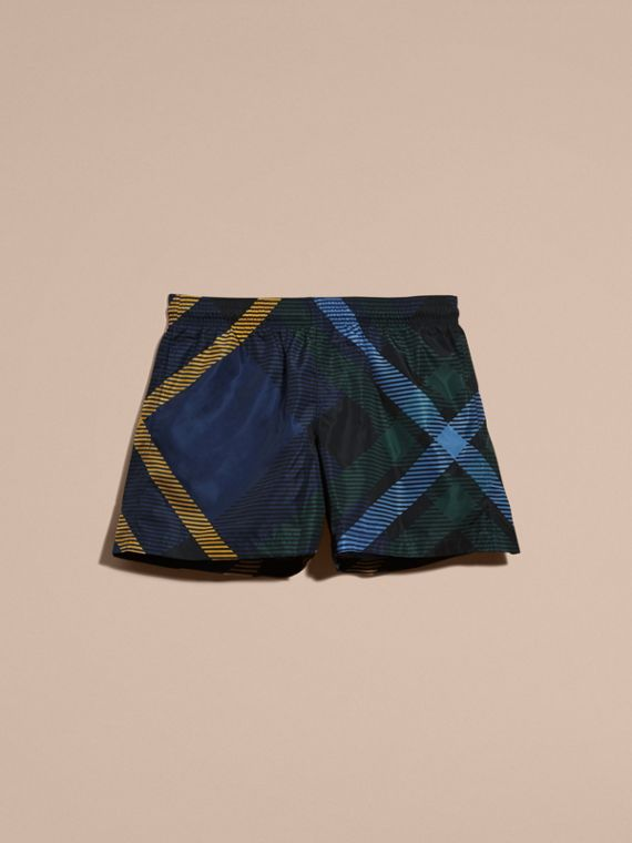 Navy Abstract Check Swim Shorts - cell image 3
