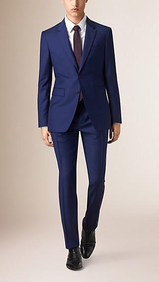 Costume de coupe moderne en laine vierge Travel Tailoring